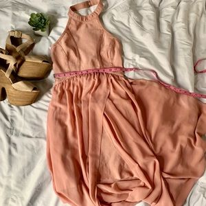 Muted pink salmon gown